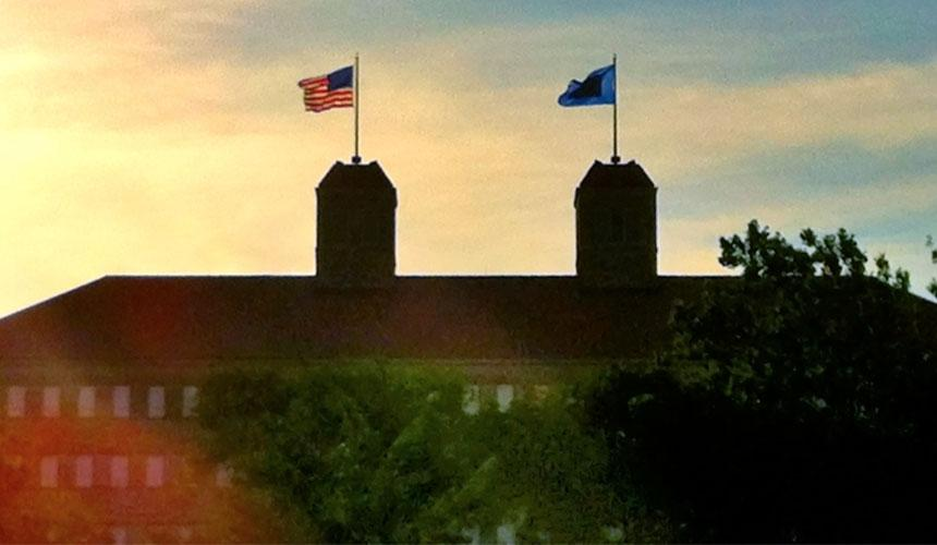 Fraser Hall flags